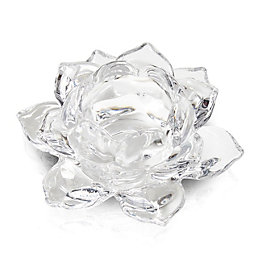 Flower Glass Tealight Holder
