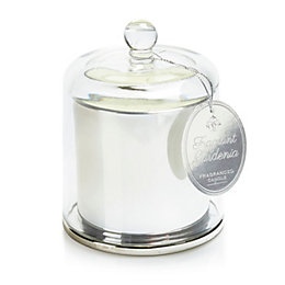 Chrome effect Glass Cloche candle