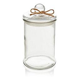Hessian bow Glass Storage jar