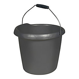 Curver Anthracite Plastic 10000 ml Bucket