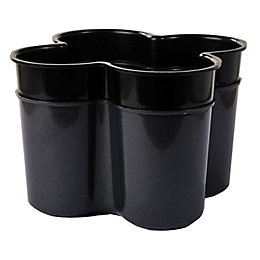 Curver Cleaning Anthracite Effect Dark Grey Cutlery Caddy