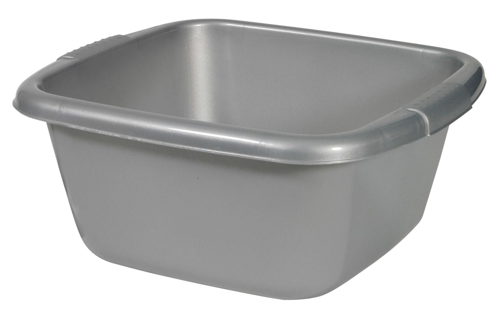 Curver Cleaning Stainless Steel Effect Silver Square Bowl