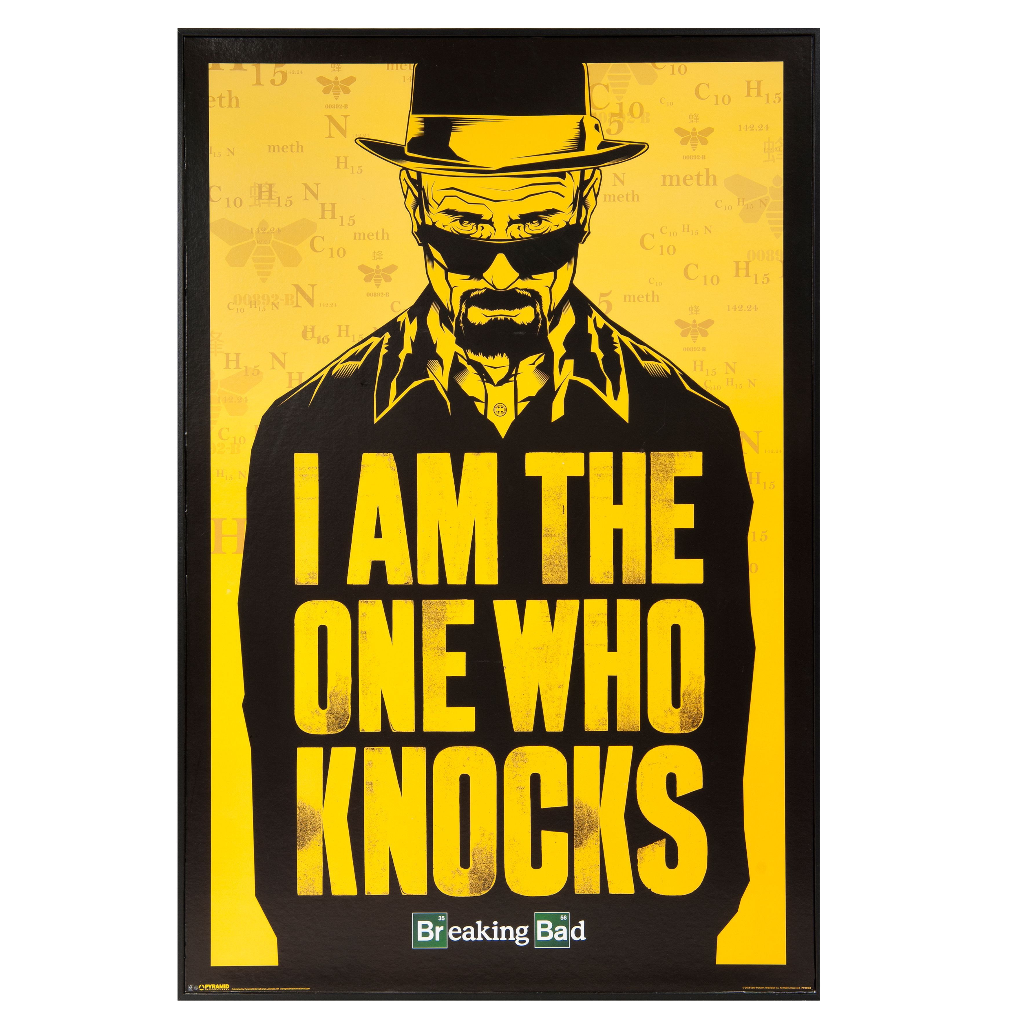 Breaking bad black yellow framed picture w630mm h930mm breaking bad black yellow framed picture w630mm h930mm departments diy at bq jeuxipadfo Choice Image