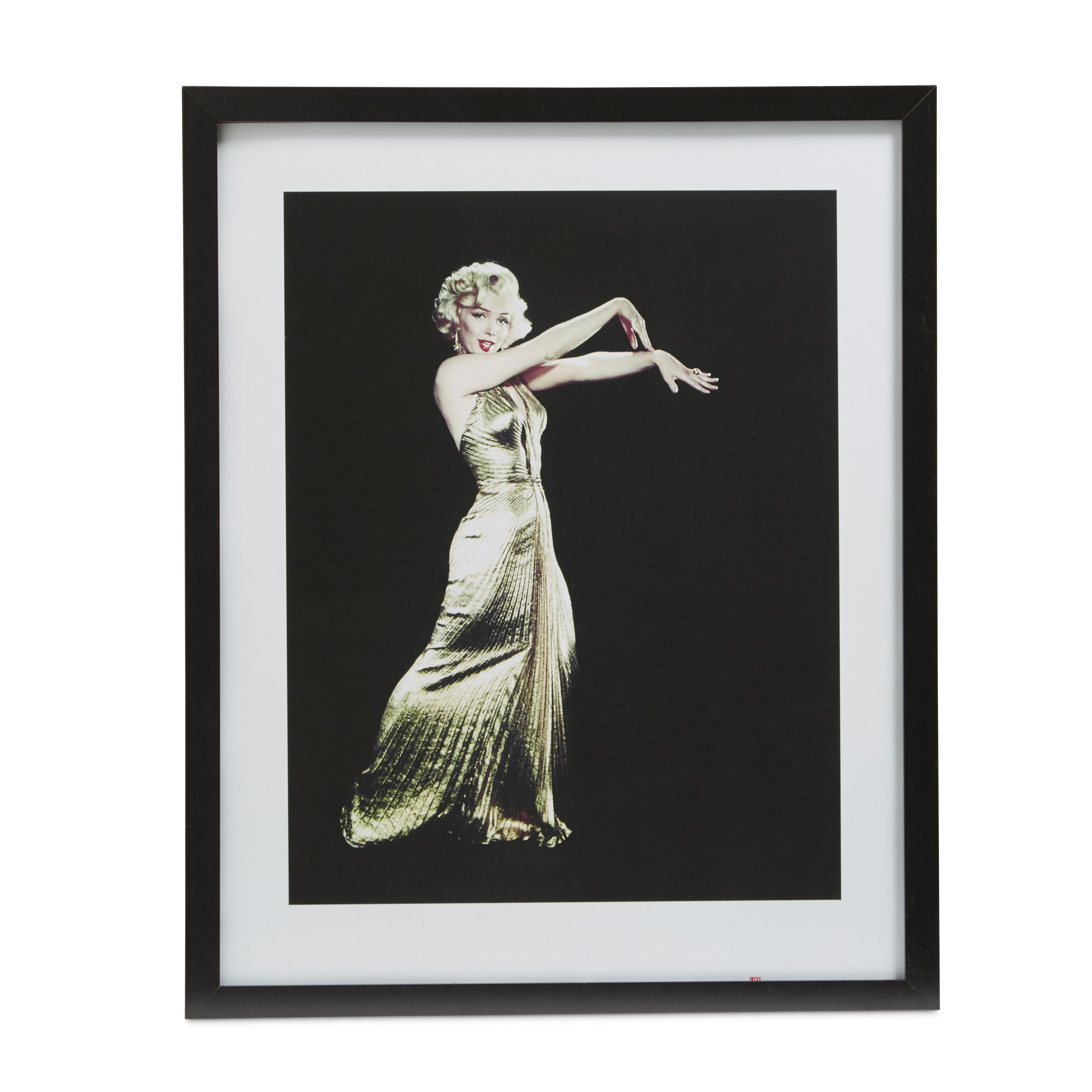 Marilyn monroe gold dress gold wall art w540mm h440mm for Kitchen cabinets lowes with wall art marilyn monroe