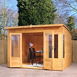 10X8 Combi Garden Room Shiplap Timber Summerhouse