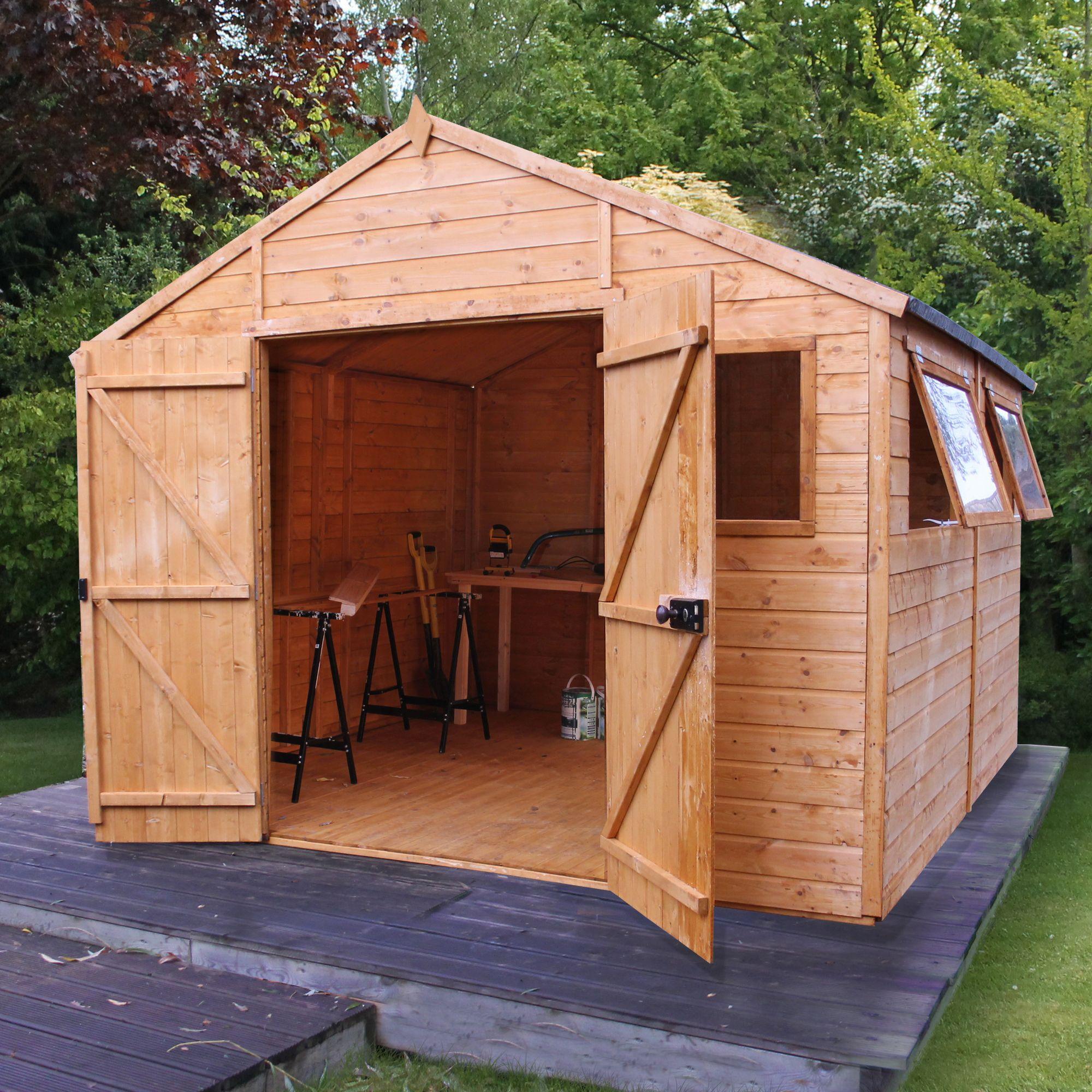 10x10 Shiplap Wooden Workshop