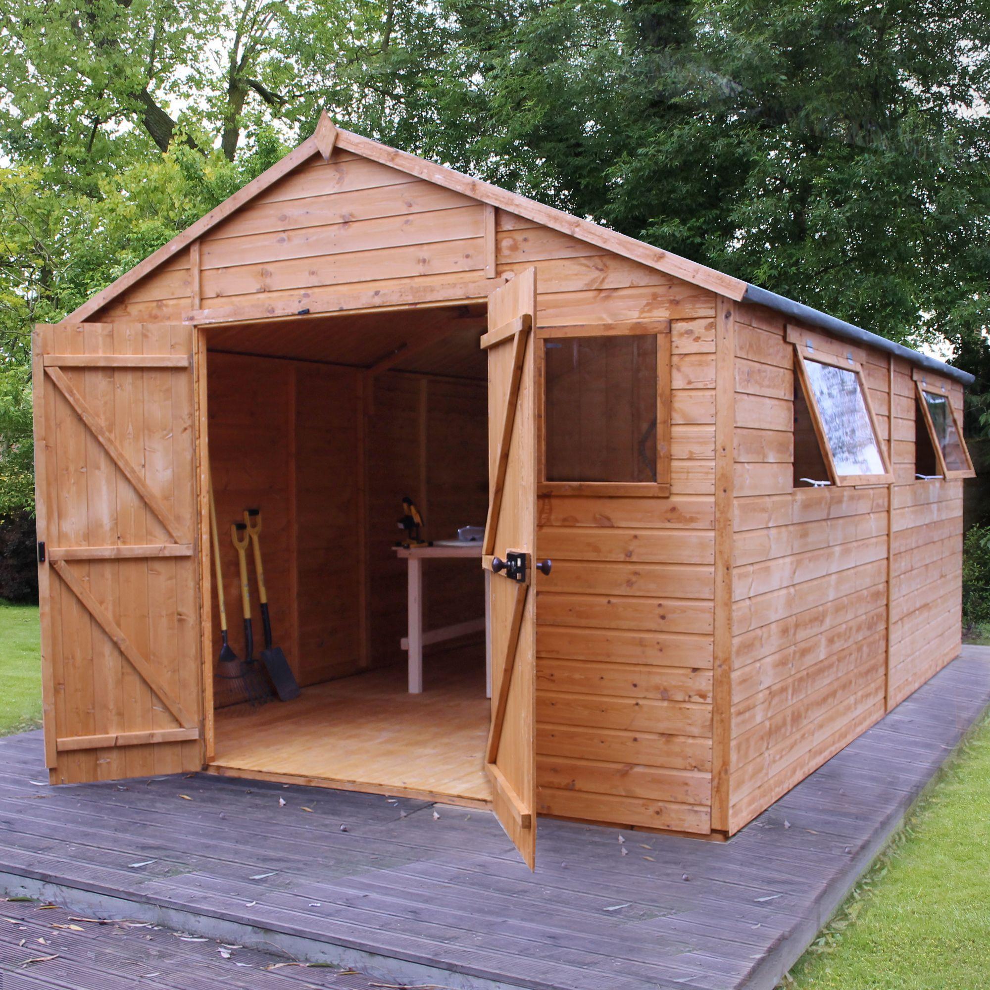 16x10 Shiplap Wooden Workshop