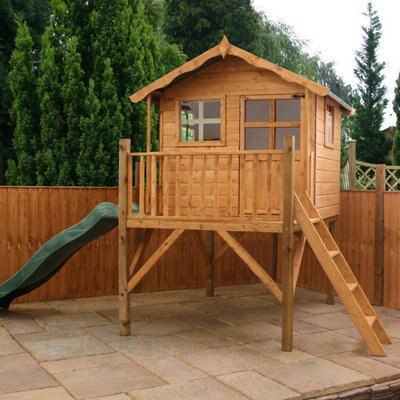 7x5 poppy wooden tower slide playhouse departments diy. Black Bedroom Furniture Sets. Home Design Ideas