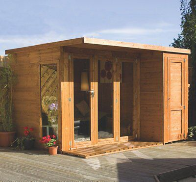 10x8 combi garden room shiplap timber summerhouse store for Timber garden rooms