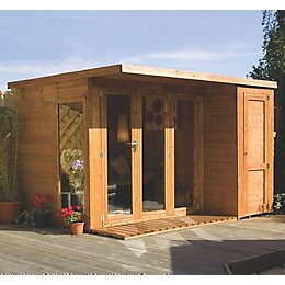 10X8 Combi Garden Room Shiplap Timber Summerhouse &