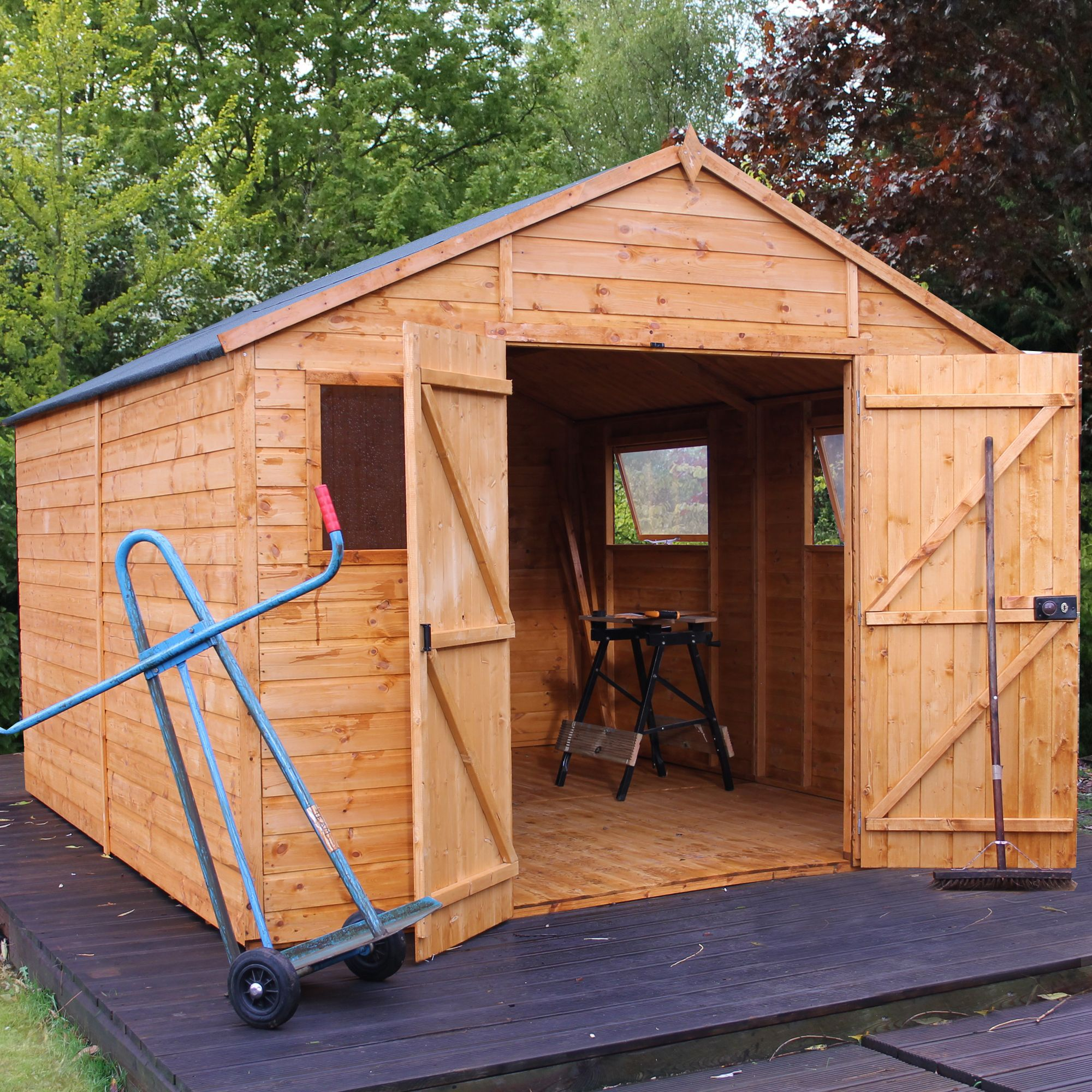 12x10 Shiplap Wooden Workshop With assembly service
