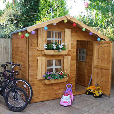 7x5 Wooden Playhouse With Assembly Service Departments