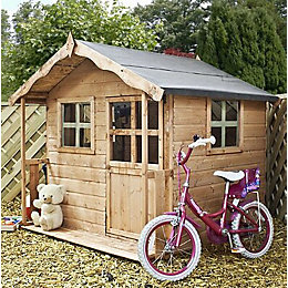 5X5 Poppy Wooden Playhouse with Base with Assembly