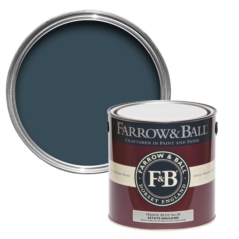 Farrow And Ball Hague Blue.Farrow Ball Hague Blue No 30 Matt Estate Emulsion Paint 2 5l Departments Diy At B Q