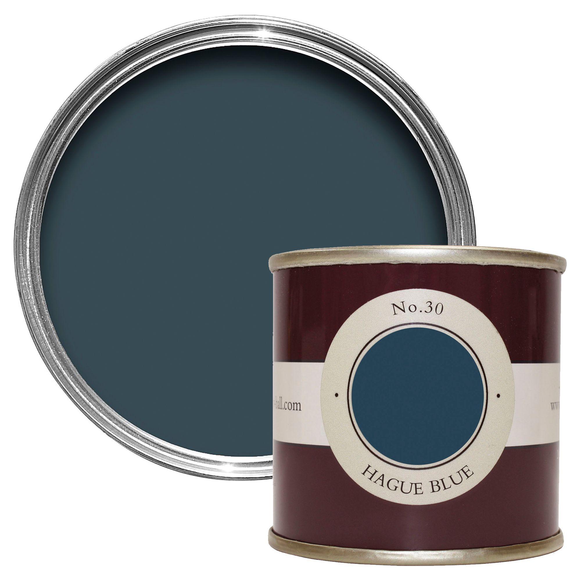 Farrow And Ball Hague Blue.Farrow Ball Hague Blue No 30 Estate Emulsion Paint 0 1l Tester Pot Departments Diy At B Q