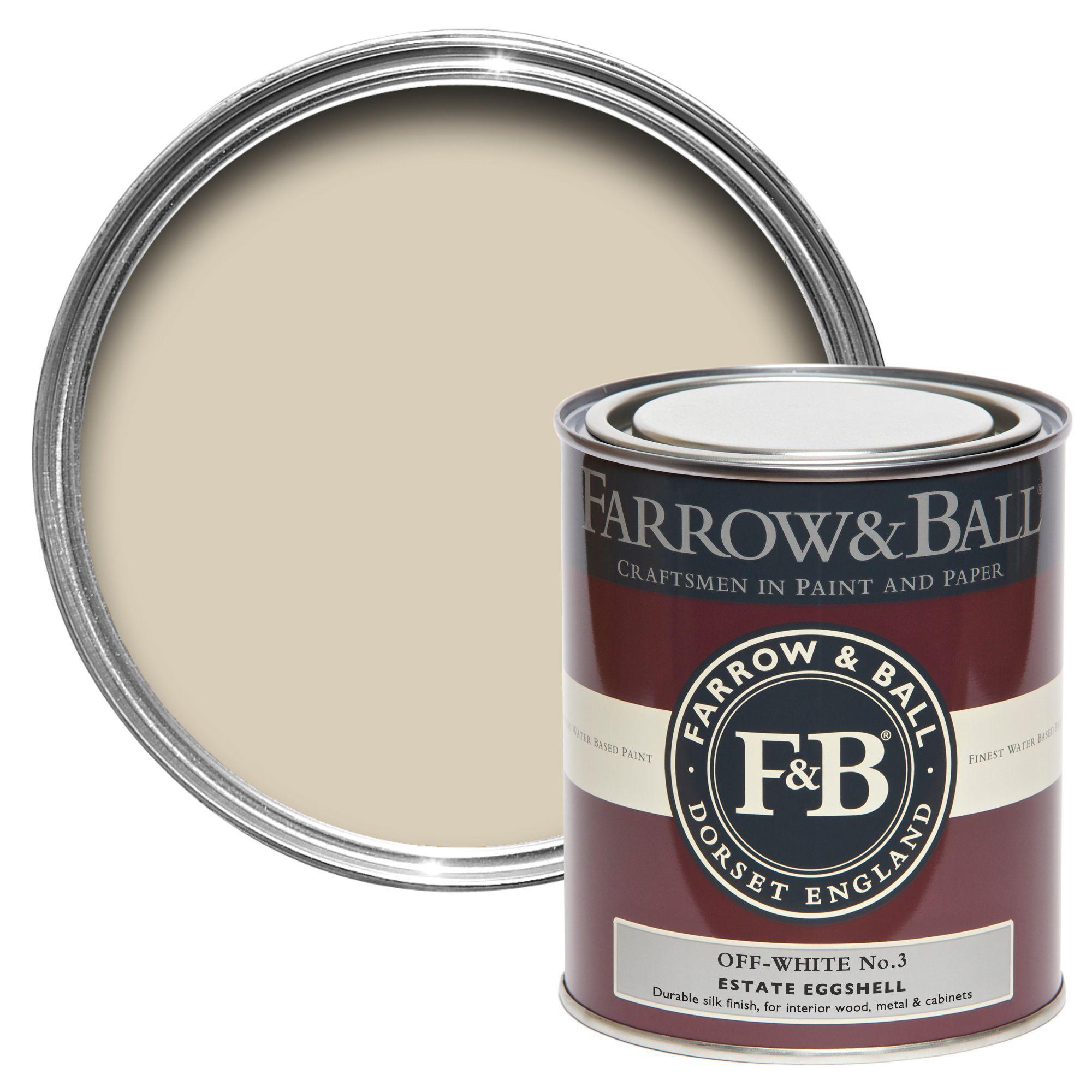 Farrow ball off white no 3 estate eggshell paint 750 ml - Eggshell paint in bathroom ...