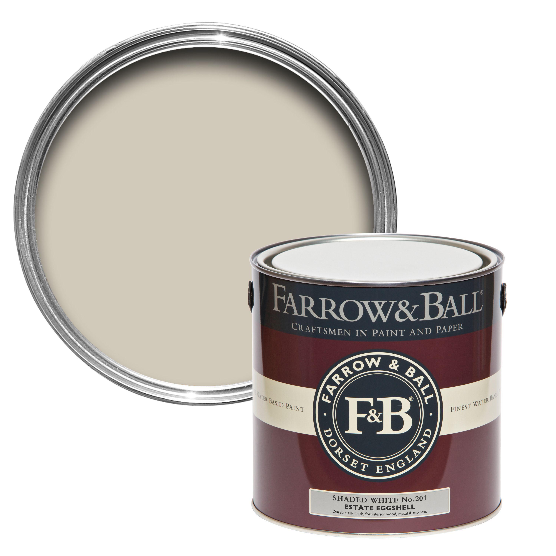 Farrow & Ball Shaded White no.201 Estate Eggshell