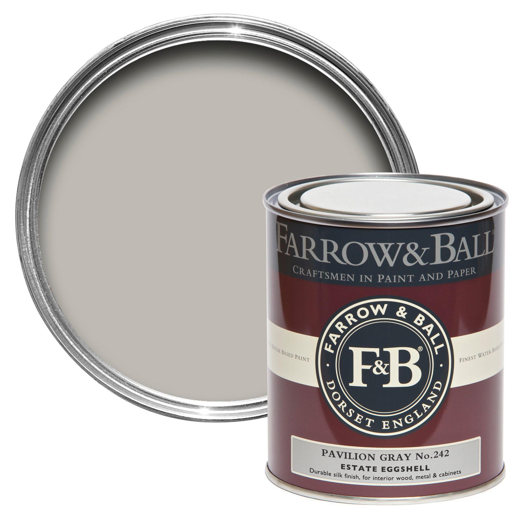 Farrow Ball Estate Eggshell Pavilion Gray Silk Sheen Estate Eggshell Paint 750 Ml
