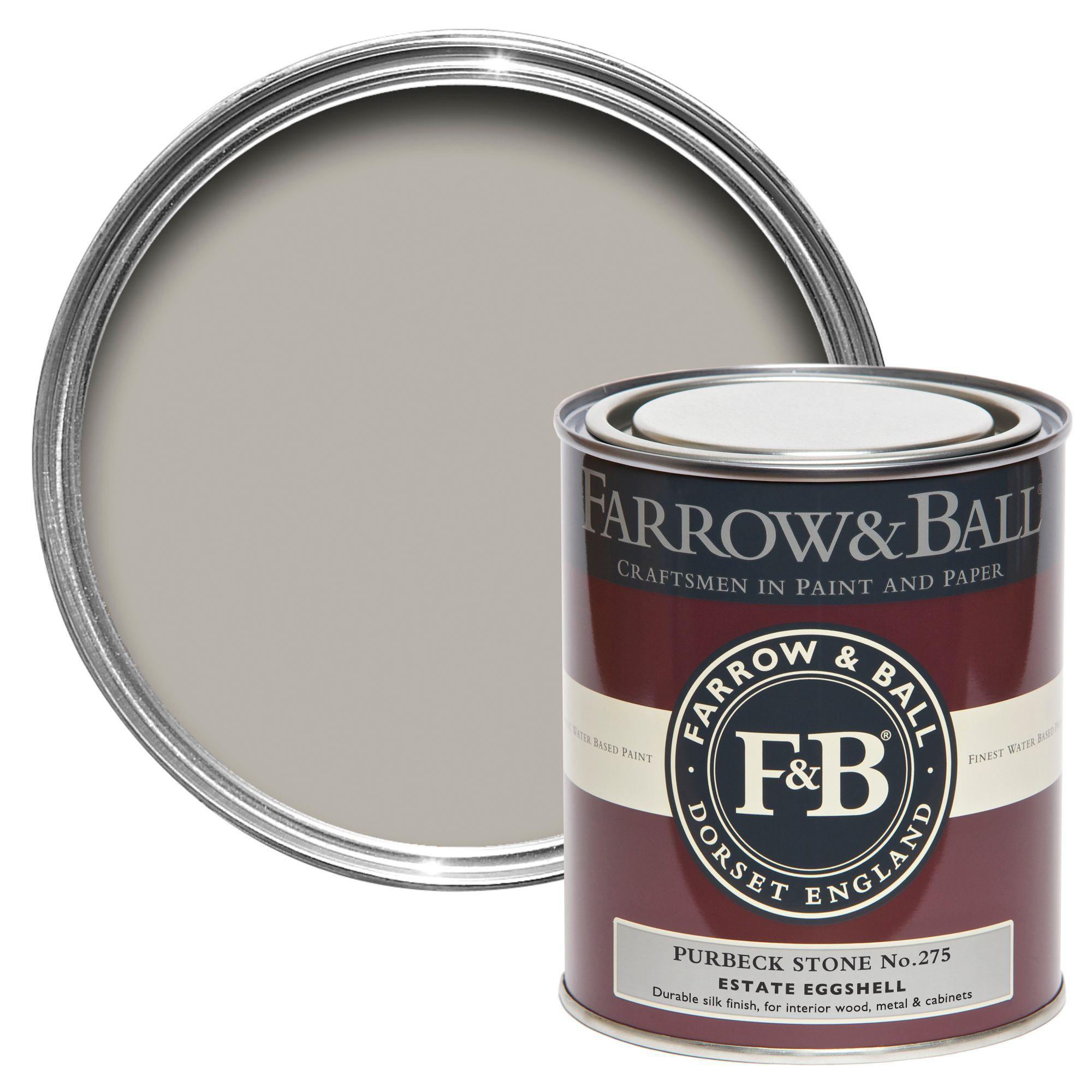 Farrow Ball Purbeck Stone No275 Estate Eggshell Paint 750 Ml