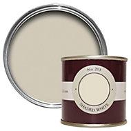 Farrow & Ball Shaded White no.201 Estate emulsion paint 0.1L Tester pot