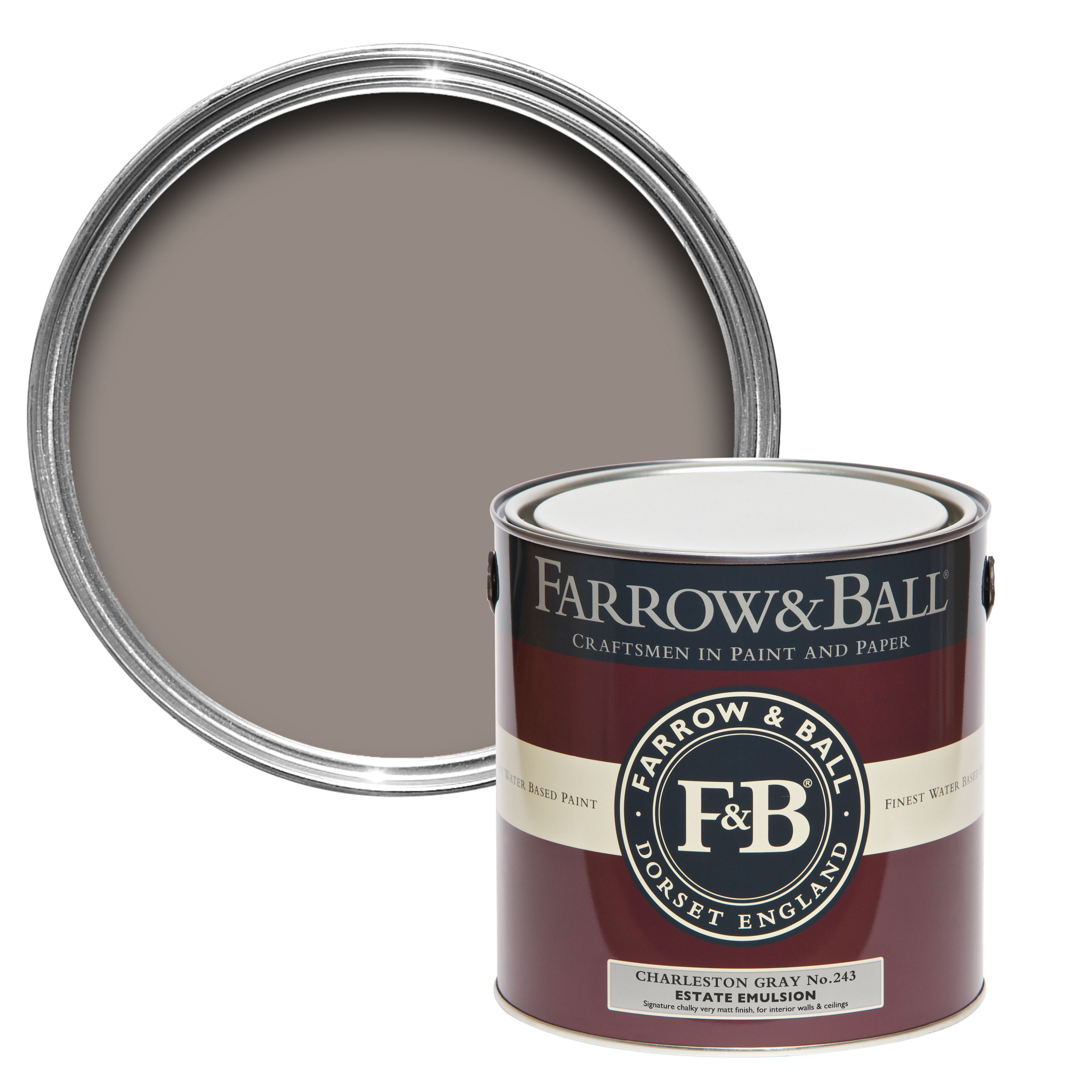 farrow ball charleston gray matt estate emulsion. Black Bedroom Furniture Sets. Home Design Ideas