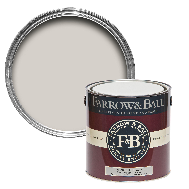 Verwonderend Farrow & Ball Estate Ammonite No.274 Matt Emulsion paint, 2.5L GL-18