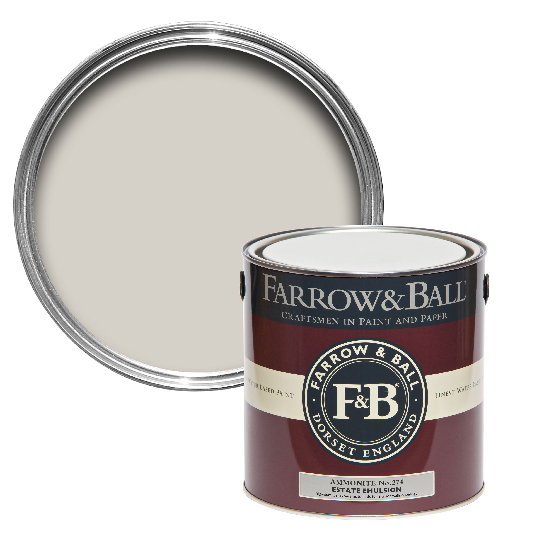 farrow ball ammonite matt estate emulsion paint 2 5l departments diy at b q. Black Bedroom Furniture Sets. Home Design Ideas