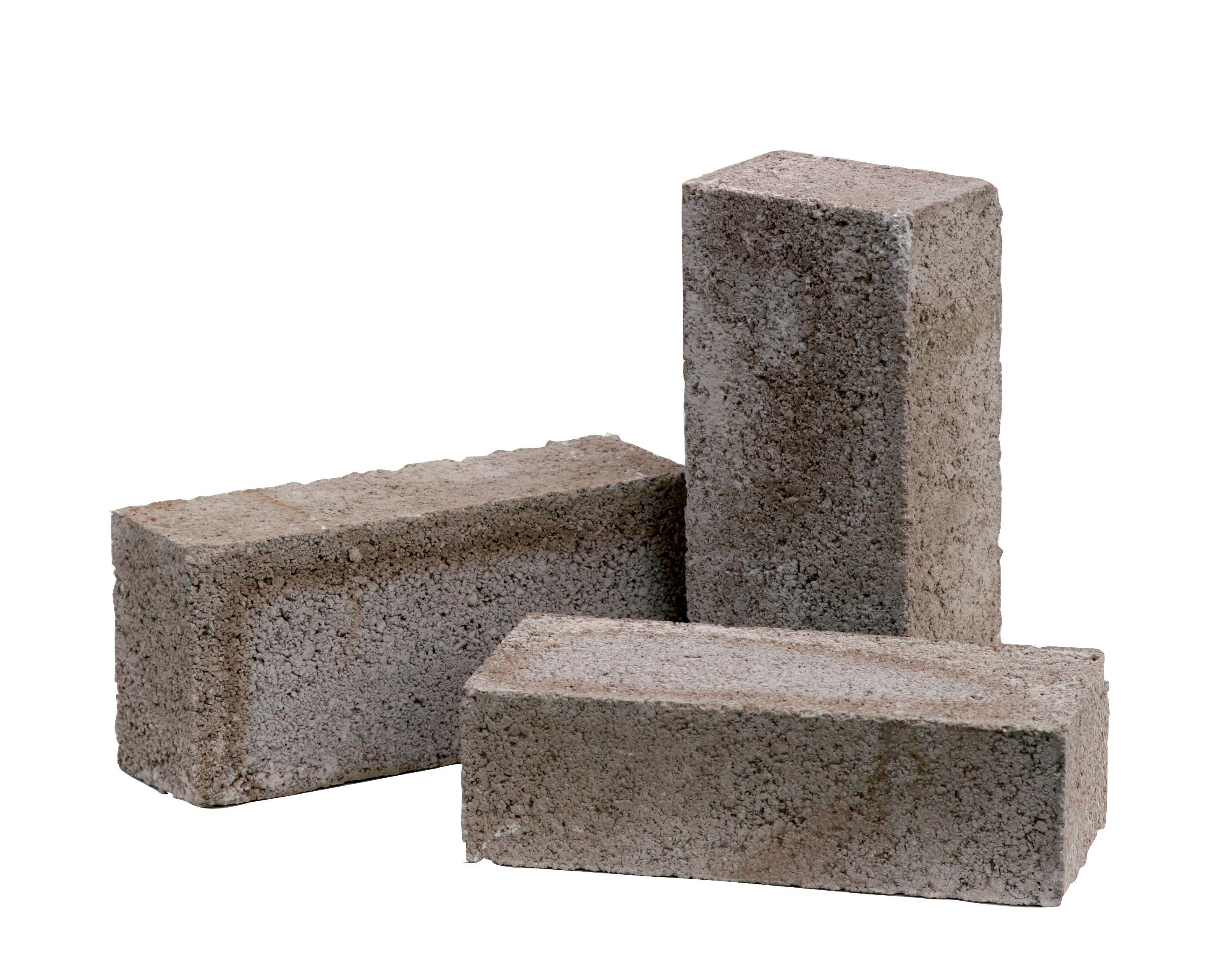 Grey Reconstituted Stone Concrete Common Brick H 65mm W
