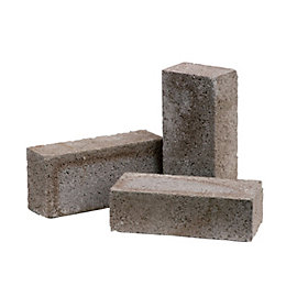 Grey Reconstituted stone Concrete common brick (H)65mm (W)103mm