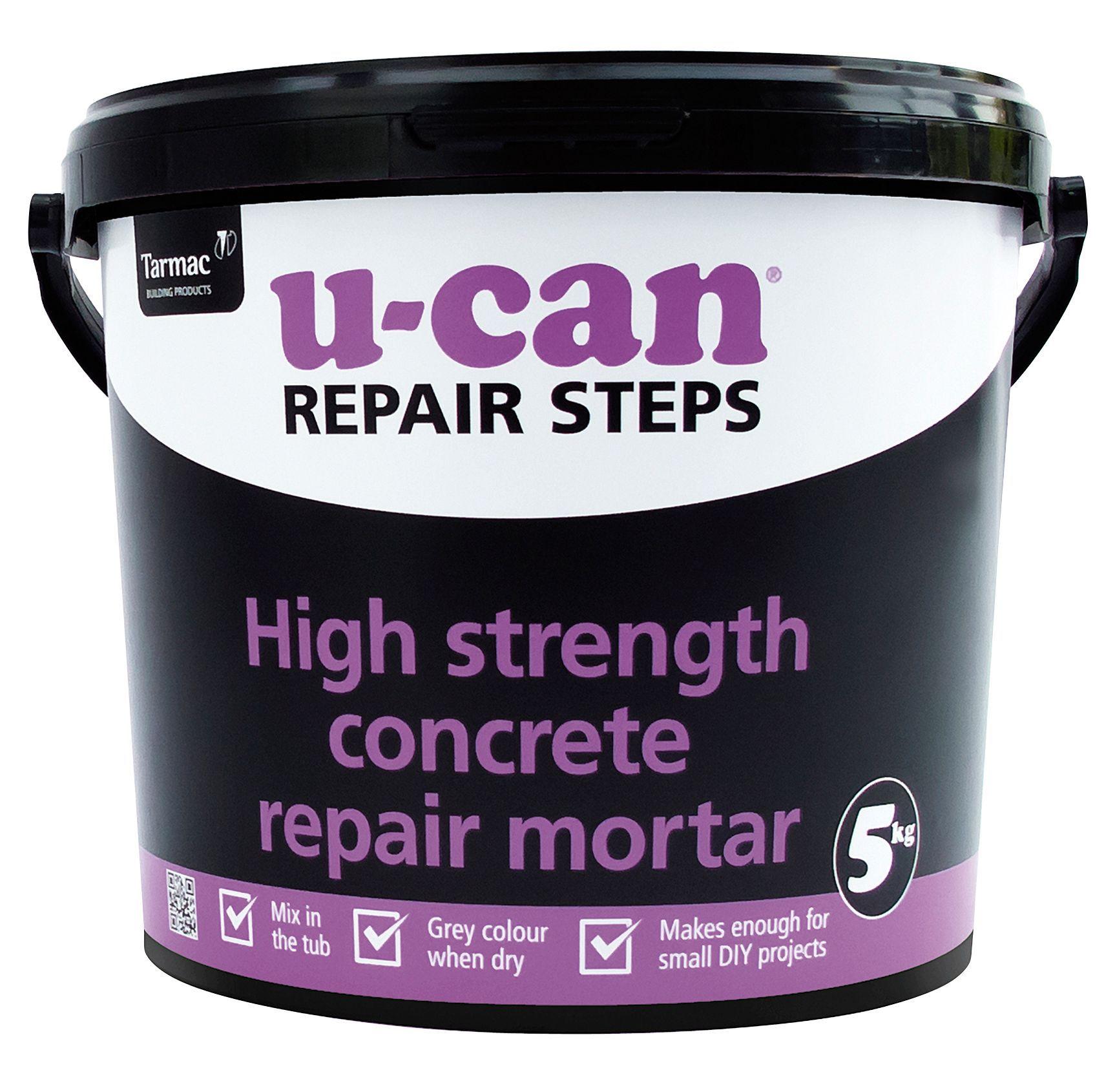 U-Can High strength Concrete repair mortar 5kg Tub | Departments | DIY at  B&Q
