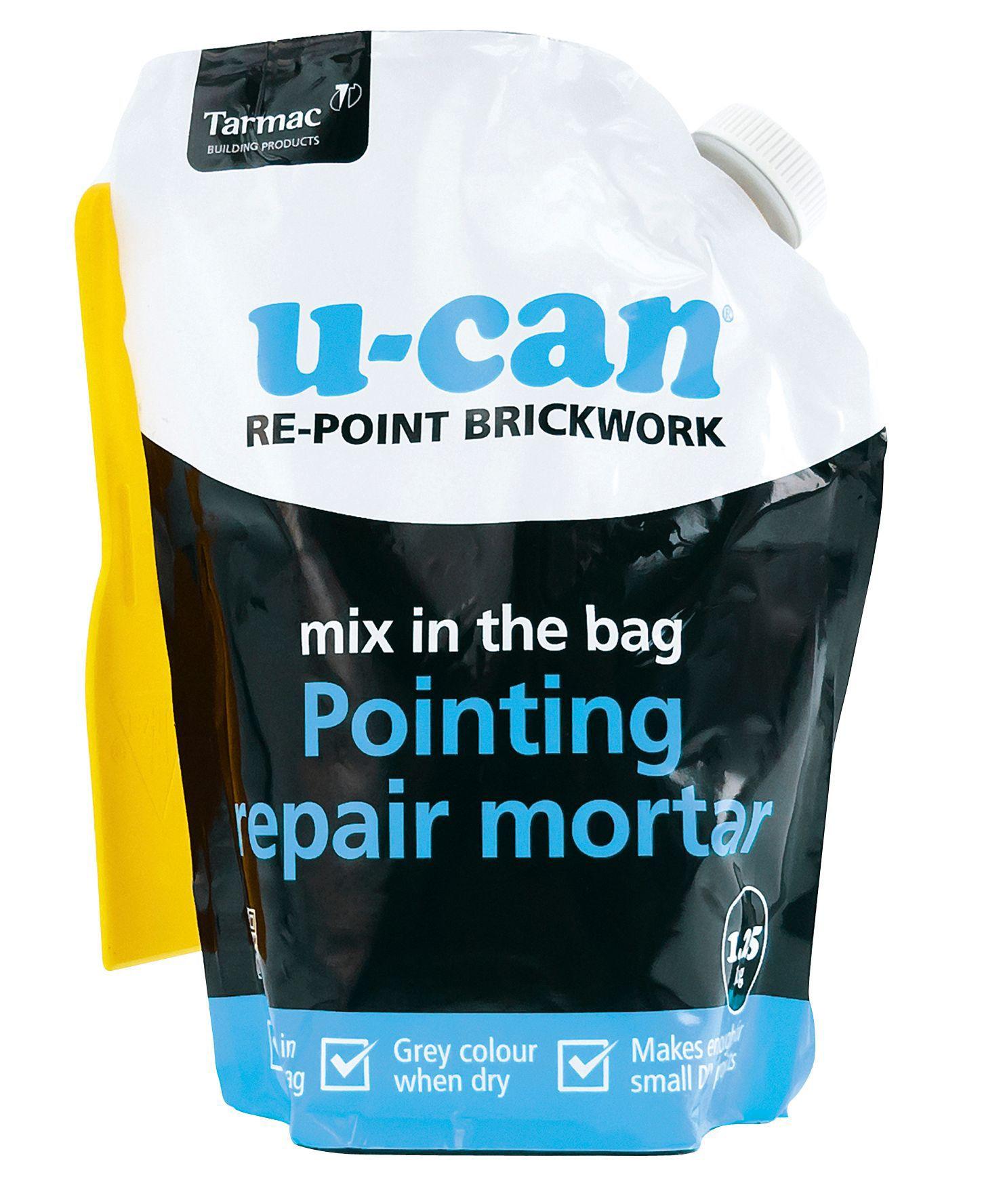 U-Can Mix In The Bag Pointing repair mortar 1.25kg Bag ...
