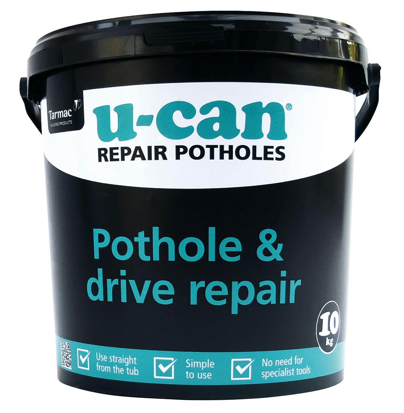 U-Can Black Pothole & Drive Repair, 10000 G Tub ...