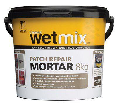 Tarmac Wet mix Repair mortar, 8kg Tub | Departments | DIY ...