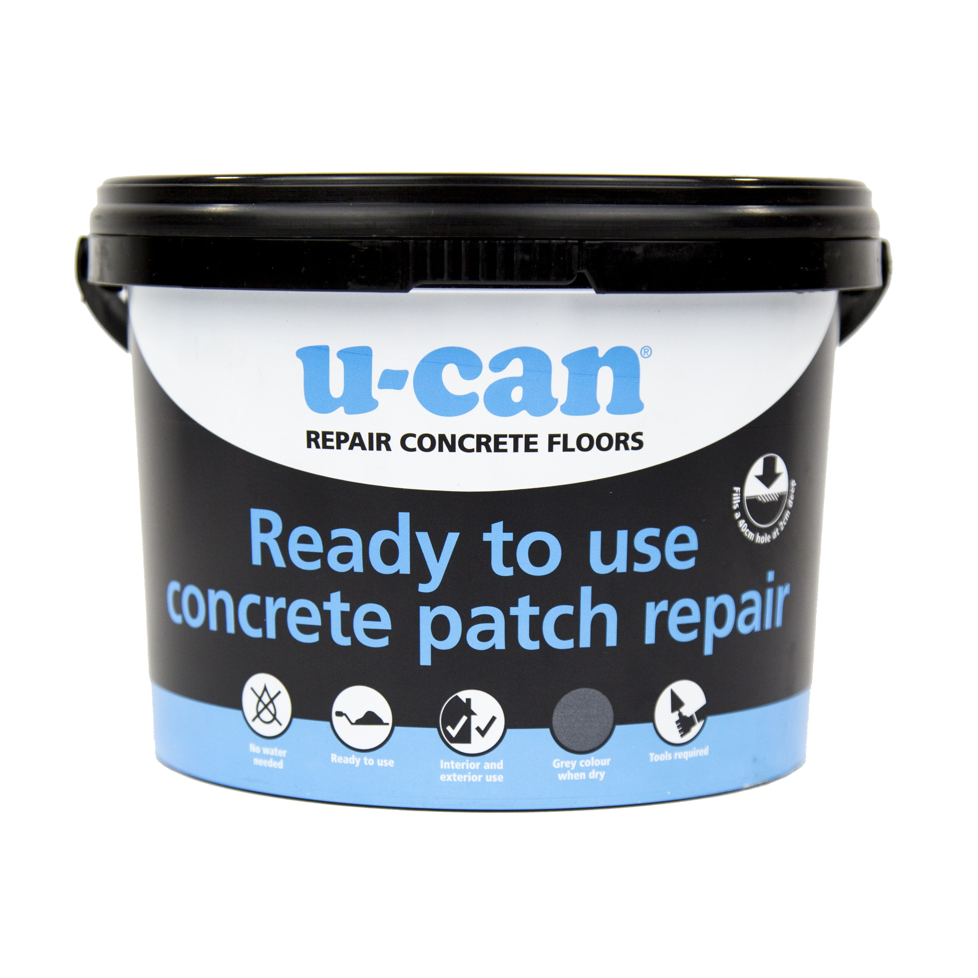 U Can Ready To Use Concrete Patch Repair 4kg Tub | Departments | DIY At Bu0026Q