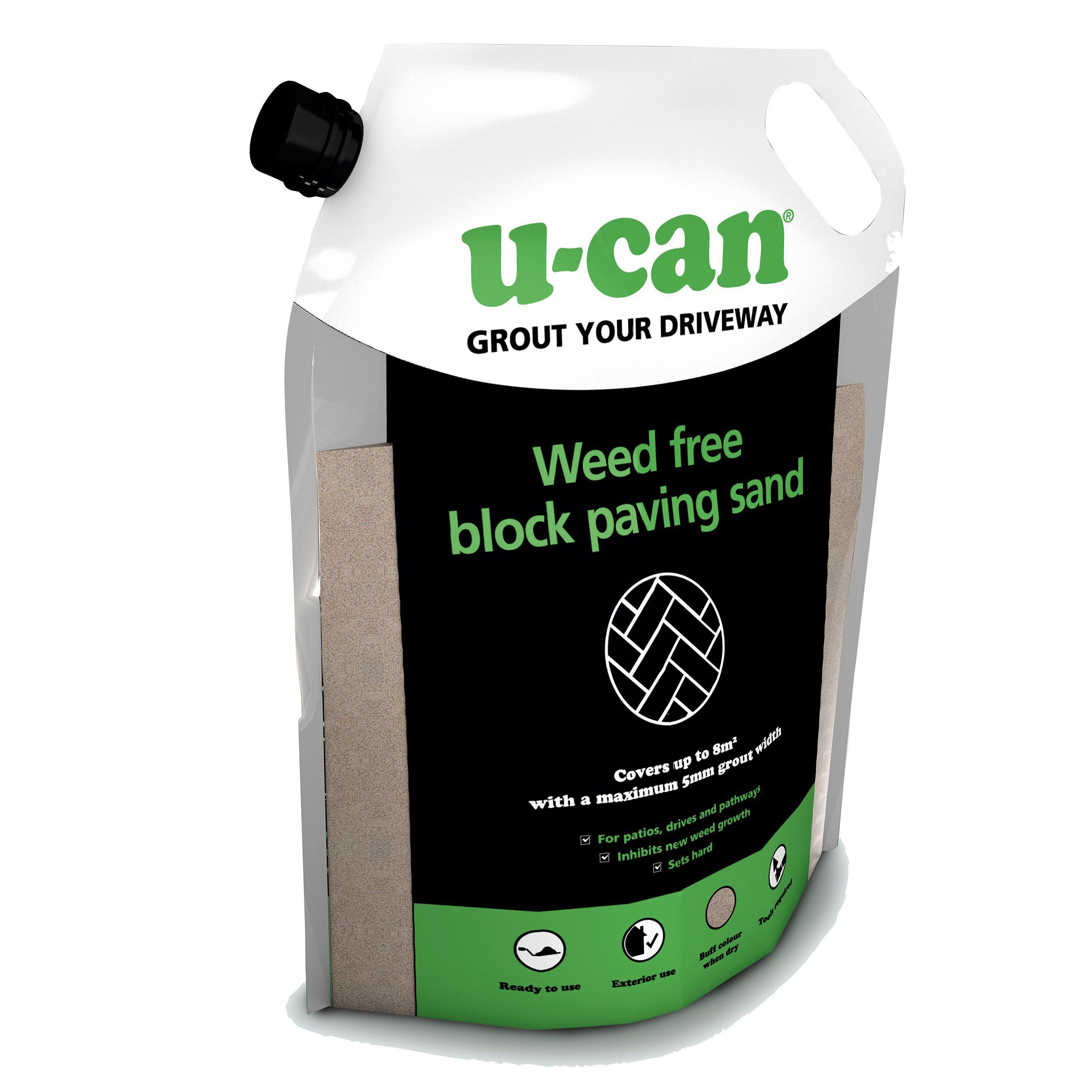 u can weed free block paving sand 20kg departments diy at b q