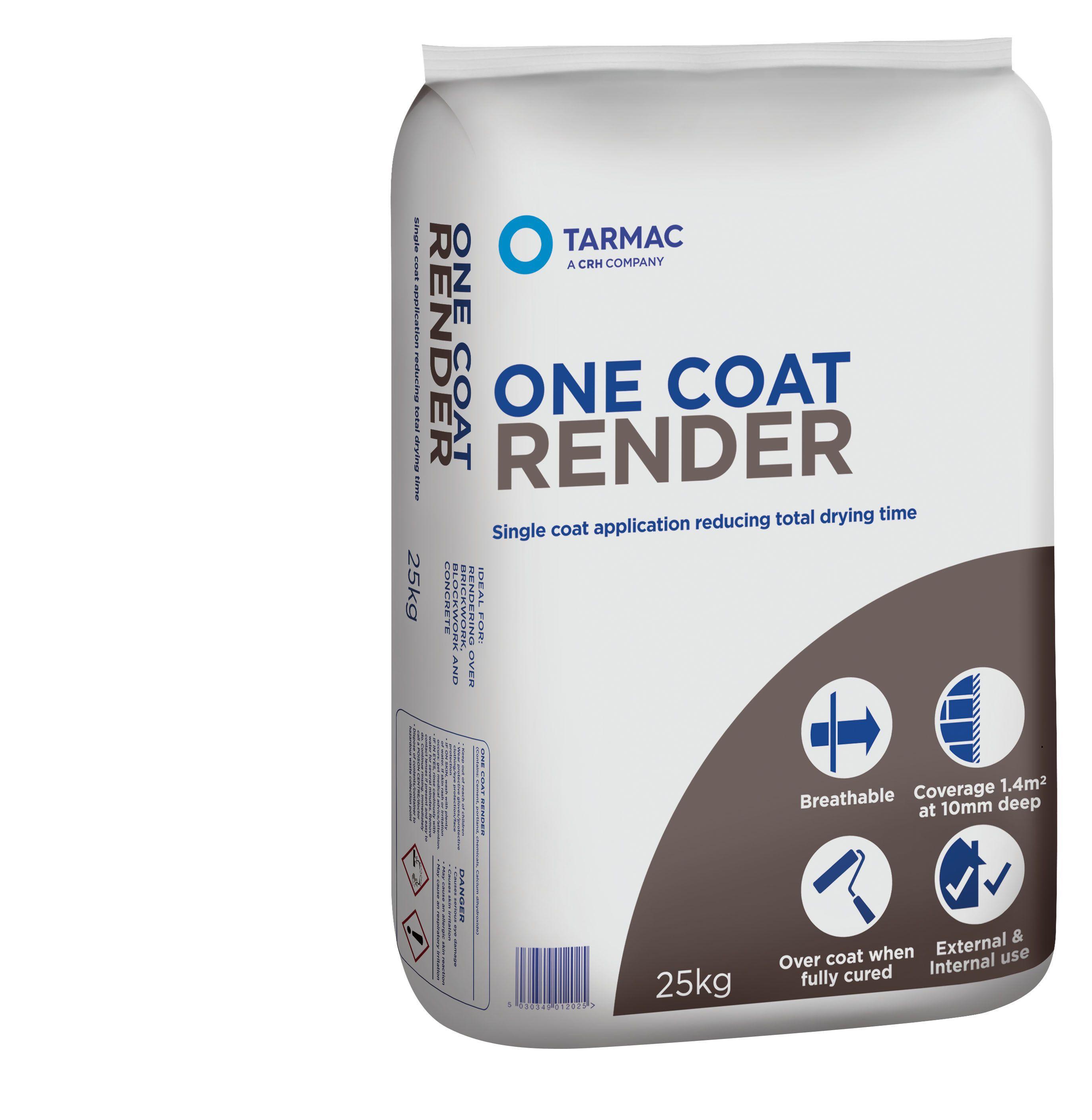 Tarmac One Coat Ready To Use Render 25kg Bag | Departments | DIY At Bu0026Q