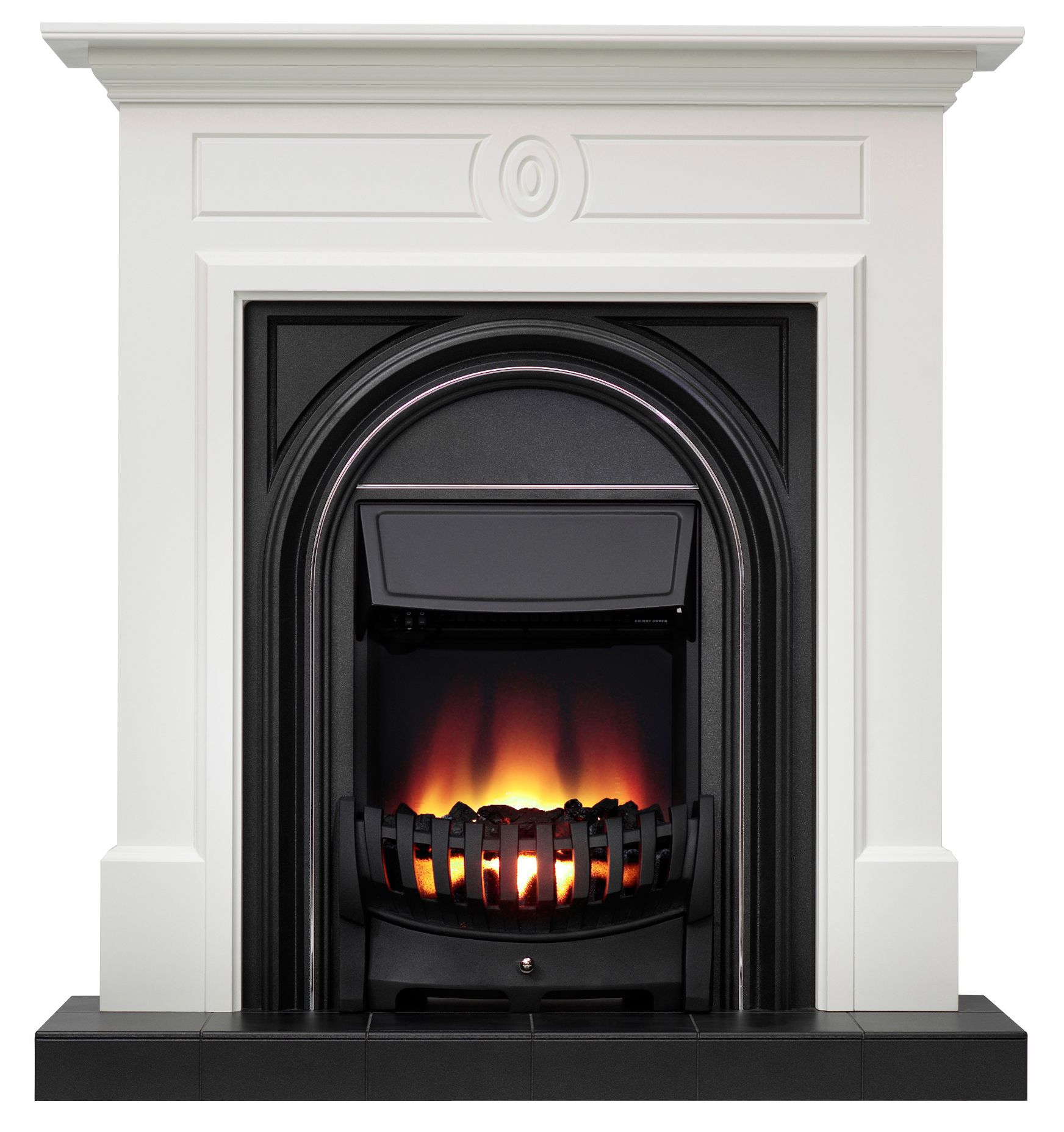Be Modern Dalston Black Electric Fire Suite