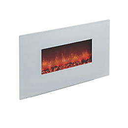 Be Modern Cortona White Glass Remote Control Wall