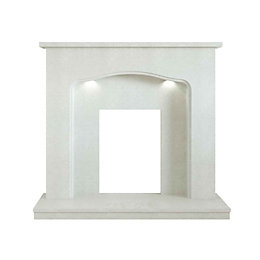 Annabelle Manila Micro marble Fire surround with lights