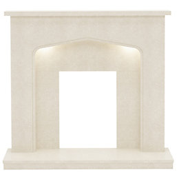 Adriana Manila Micro Marble Fire Surround with Lights