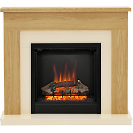 Be Modern Blakemere Oak effect LED Electric fire
