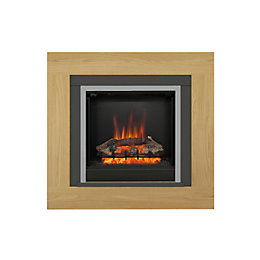 Be Modern Brandon Black LED Electric fire suite
