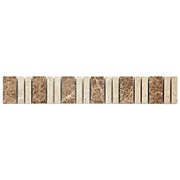 Almond Beige Stone effect Mosaic Ceramic Border tile,