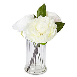 Cream Rose, Peony, Ranunculus Artificial Floral Arrangement