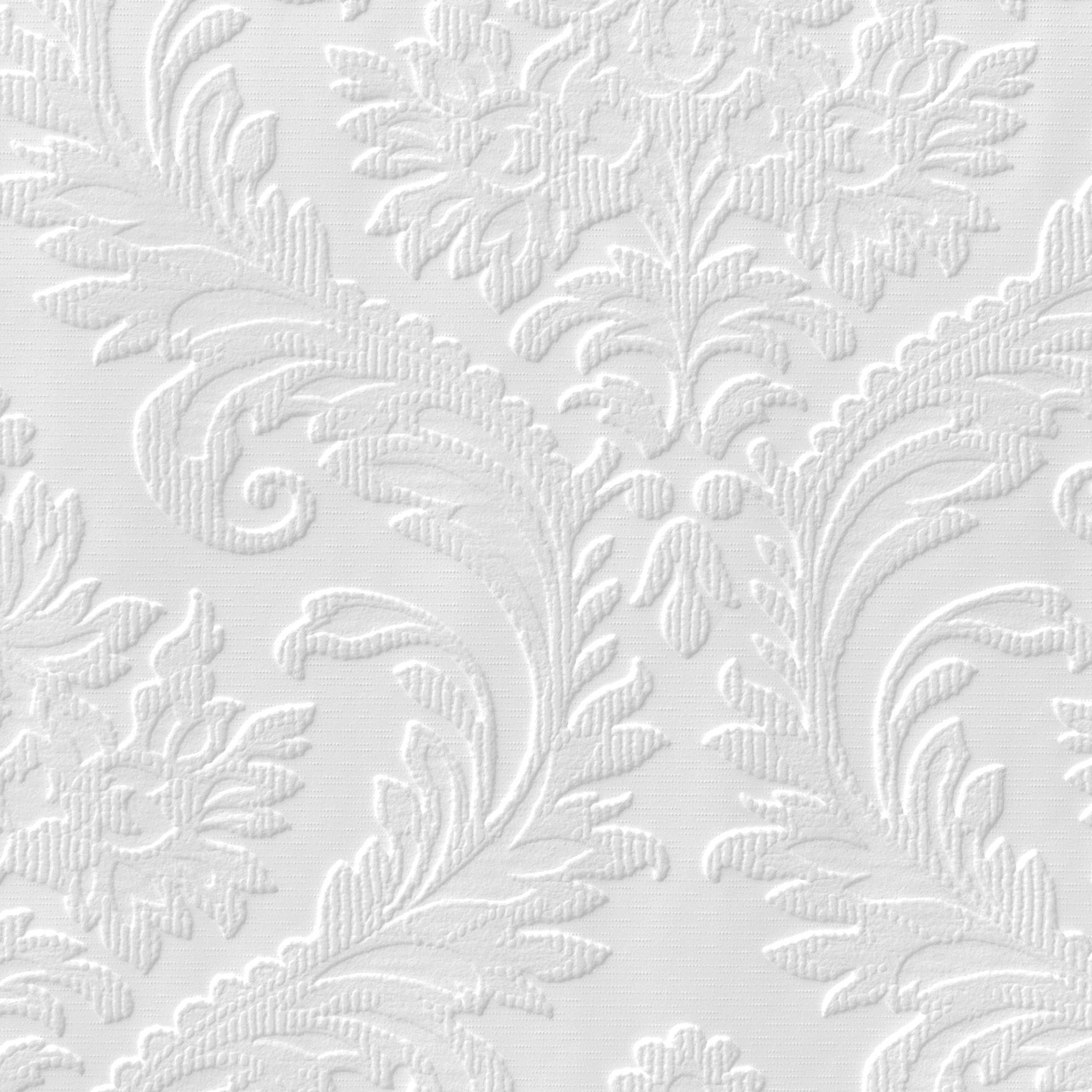 Anaglypta Luxury White High Traditional Textured Paintable Wallpaper Departments Diy At B Q
