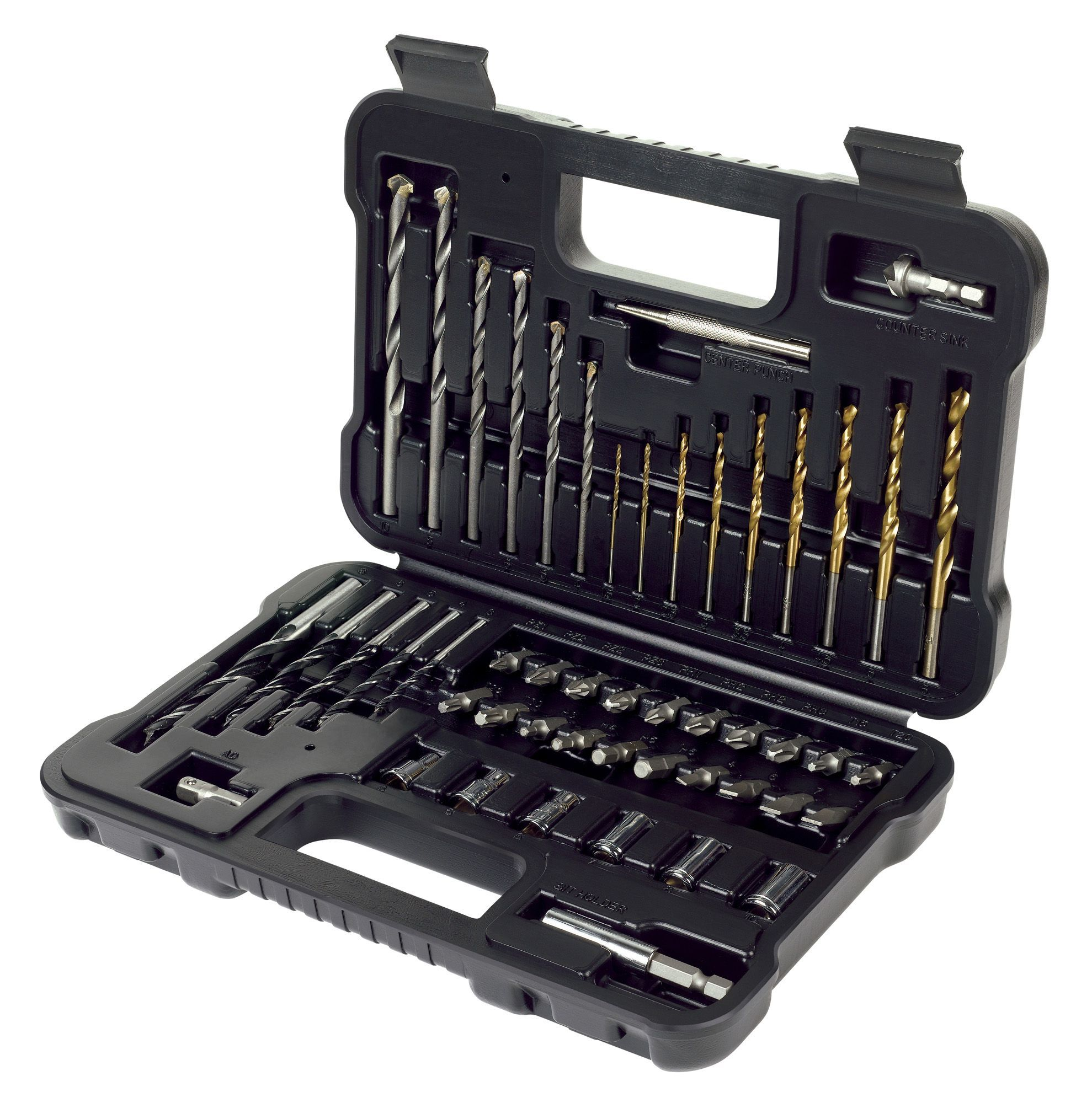 Black Amp Decker Drill Bit Accessory Set 50 Piece