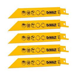 Dewalt Reciprocating saw blades (L)152mm, Pack of 5