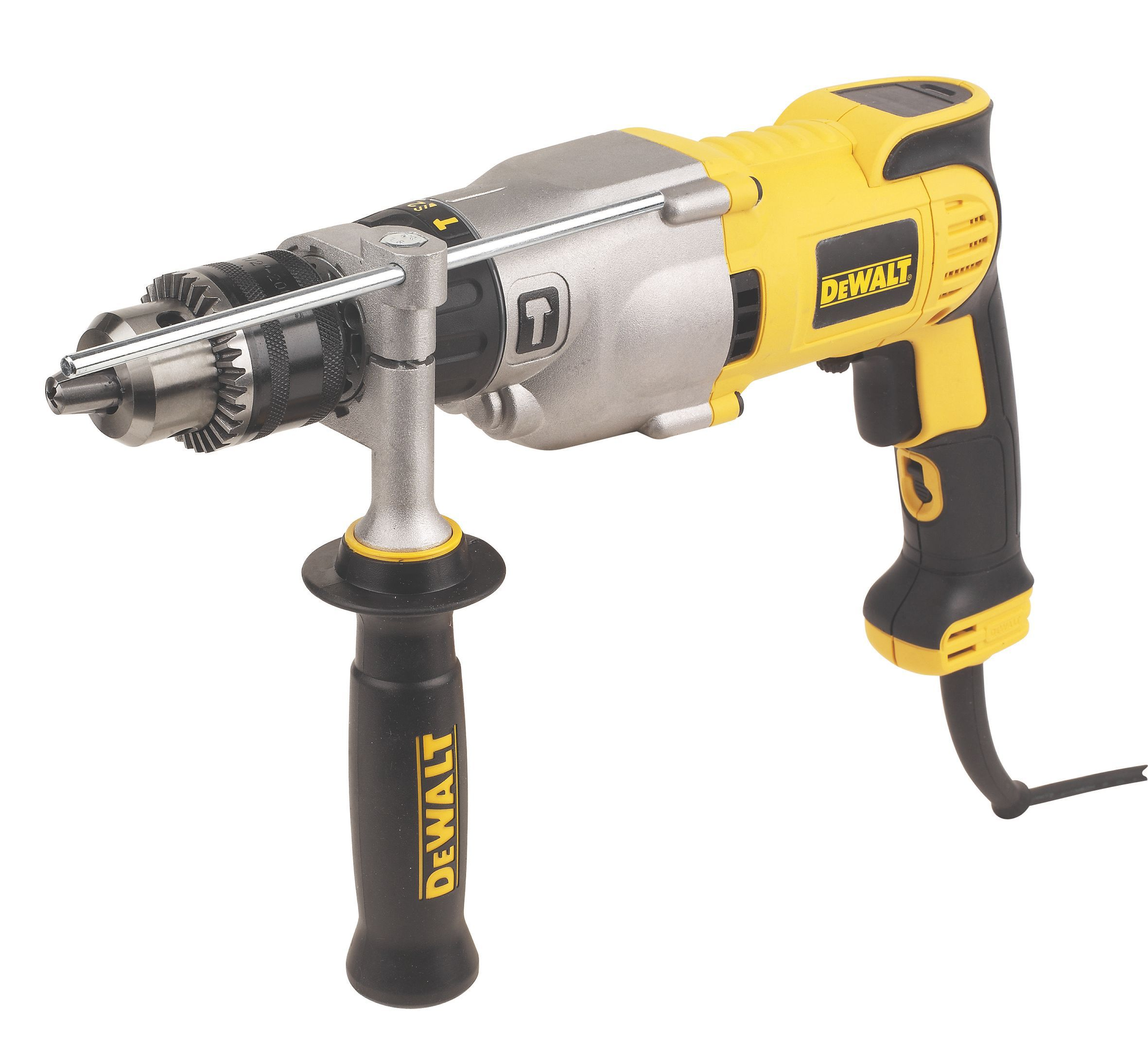 Dewalt 1300w 110v Corded Keyed Chuck Brushed Diamond Core