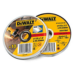 DeWalt (Dia)115mm Grinding disc, Pack of 10