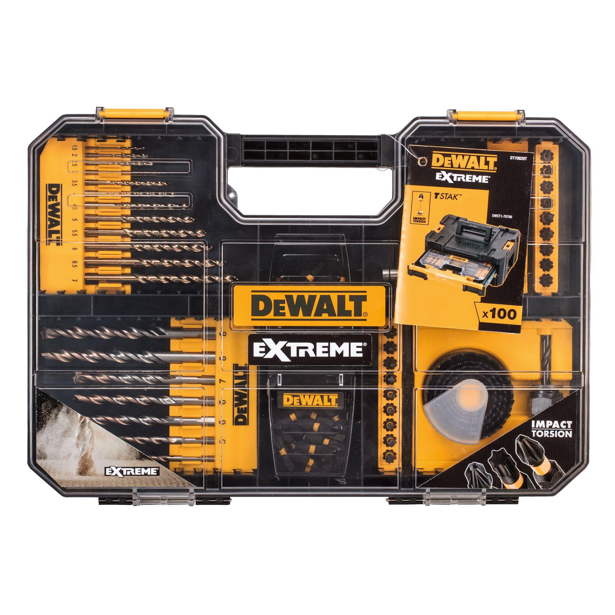 Dewalt Extreme Mixed Drill Bit Set 100 Set Departments